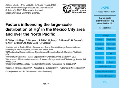 Factors Influencing the Large-scale Dist... by Talbot, R.