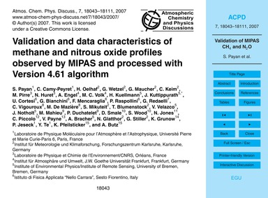 Validation and Data Characteristics of M... by Payan, S.