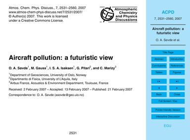 Aircraft Pollution: a Futuristic View : ... by Søvde, O. A.