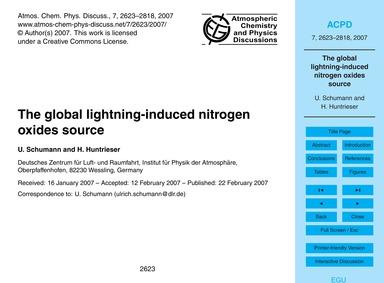 The Global Lightning-induced Nitrogen Ox... by Schumann, U.