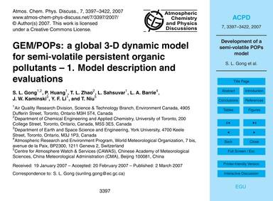 Gem/Pops: a Global 3-d Dynamic Model for... by Gong, S. L.