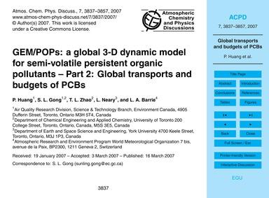 Gem/Pops: a Global 3-d Dynamic Model for... by Huang, P.
