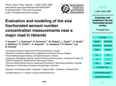 Evaluation and Modeling of the Size Frac... by Hussein, T.