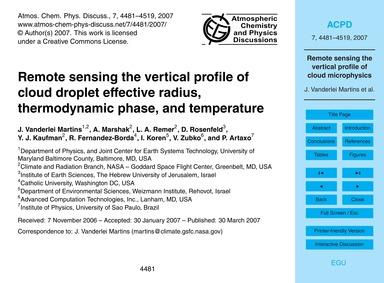 Remote Sensing the Vertical Profile of C... by Vanderlei Martins, J.