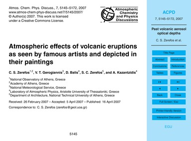 Atmospheric Effects of Volcanic Eruption... by Zerefos, C. S.