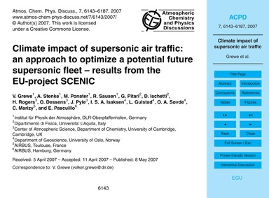 Climate Impact of Supersonic Air Traffic... by Grewe, V.