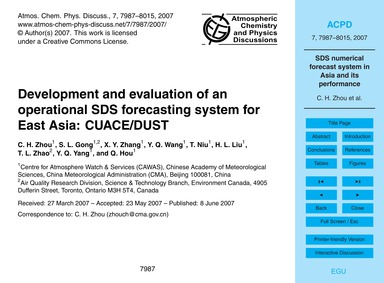 Development and Evaluation of an Operati... by Zhou, C. H.