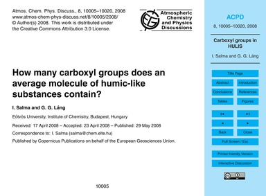 How Many Carboxyl Groups Does an Average... by Salma, I.