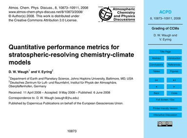 Quantitative Performance Metrics for Str... by Waugh, D. W.