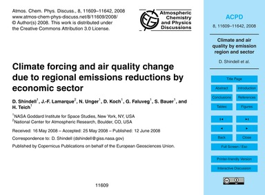 Climate Forcing and Air Quality Change D... by Shindell, D.