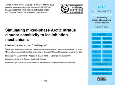 Simulating Mixed-phase Arctic Stratus Cl... by Sednev, I.