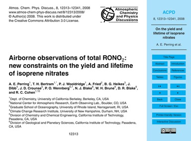 Airborne Observations of Total Rono2: Ne... by Perring, A. E.