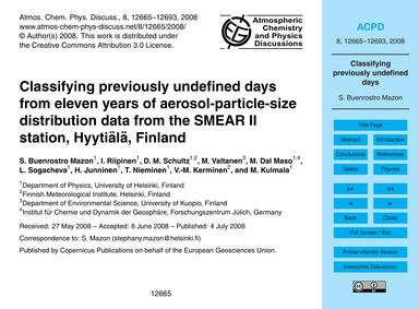 Classifying Previously Undefined Days fr... by Buenrostro Mazon, S.
