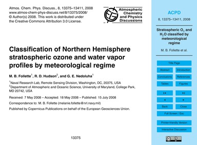 Classification of Northern Hemisphere St... by Follette, M. B.