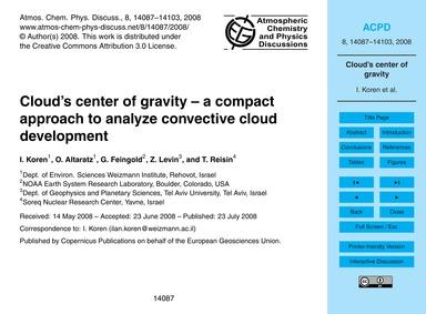 Cloud's Center of Gravity – a Compact Ap... by Koren, I.