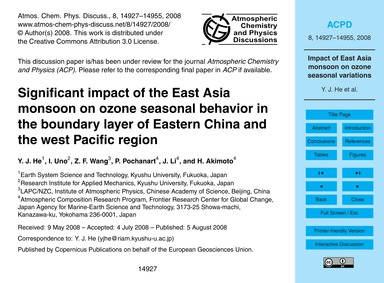 Significant Impact of the East Asia Mons... by He, Y. J.