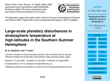 Large-scale Planetary Disturbances in St... by Shepherd, M. G.