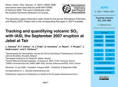 Tracking and Quantifying Volcanic So2 wi... by Clarisse, L.