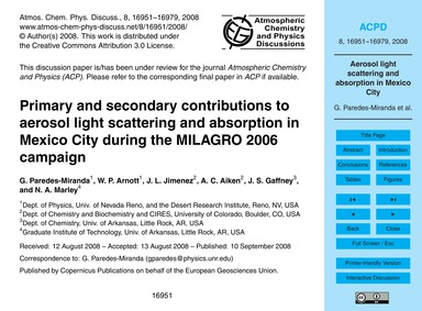 Primary and Secondary Contributions to A... by Paredes-miranda, G.