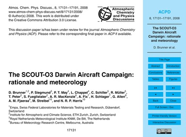 The Scout-o3 Darwin Aircraft Campaign: R... by Brunner, D.