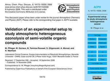 Validation of an Experimental Setup to S... by Pflieger, M.