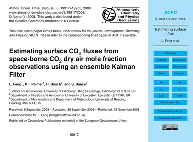 Estimating Surface Co2 Fluxes from Space... by Feng, L.