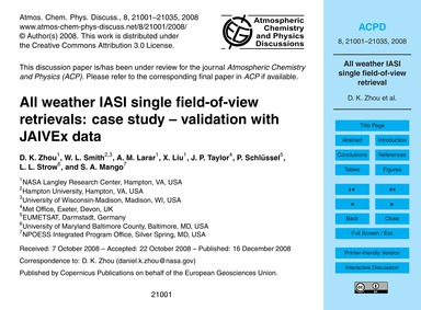 All Weather Iasi Single Field-of-view Re... by Zhou, D. K.