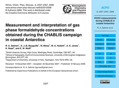 Measurement and Interpretation of Gas Ph... by Salmon, R. A.