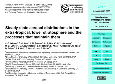 Steady-state Aerosol Distributions in th... by Wilson, J. C.