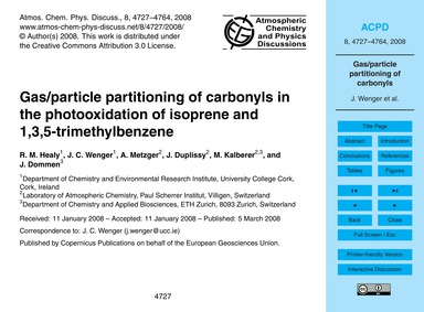 Gas/Particle Partitioning of Carbonyls i... by Healy, R. M.