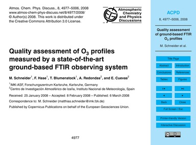 Quality Assessment of O3 Profiles Measur... by Schneider, M.