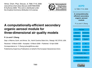 A Computationally-efficient Secondary Or... by Liu, P.