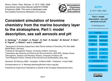 Consistent Simulation of Bromine Chemist... by Kerkweg, A.