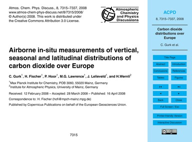 Airborne In-situ Measurements of Vertica... by Gurk, C.