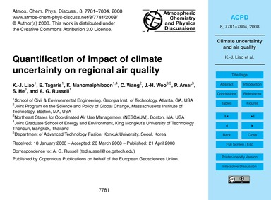 Quantification of Impact of Climate Unce... by Liao, K.-j.