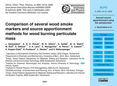 Comparison of Several Wood Smoke Markers... by Sandradewi, J.