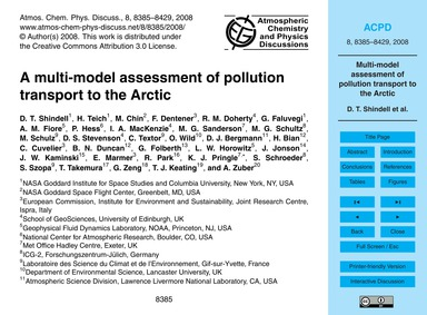 A Multi-model Assessment of Pollution Tr... by Shindell, D. T.