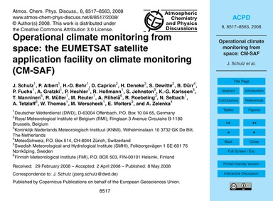 Operational Climate Monitoring from Spac... by Schulz, J.