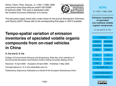 Tempo-spatial Variation of Emission Inve... by Cai, H.