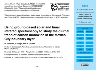 Using Ground-based Solar and Lunar Infra... by Stremme, W.