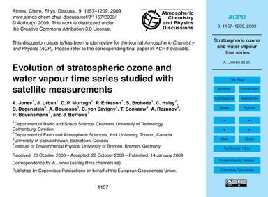 Evolution of Stratospheric Ozone and Wat... by Jones, A.