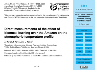 Direct Measurements of the Effect of Bio... by Davidi, A.