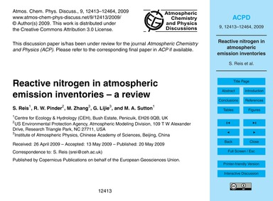 Reactive Nitrogen in Atmospheric Emissio... by Reis, S.