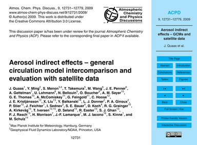 Aerosol Indirect Effects – General Circu... by Quaas, J.