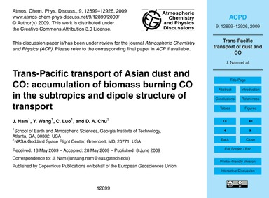 Trans-pacific Transport of Asian Dust an... by Nam, J.