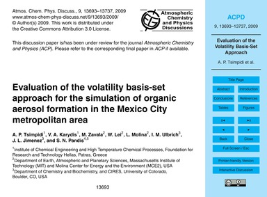 Evaluation of the Volatility Basis-set A... by Tsimpidi, A. P.