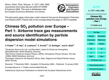 Chinese So2 Pollution Over Europe – Part... by Fiedler, V.