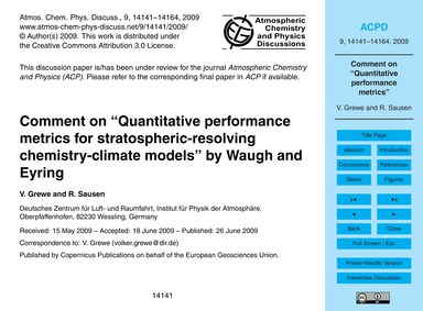 Comment on Quantitative Performance Metr... by Grewe, V.