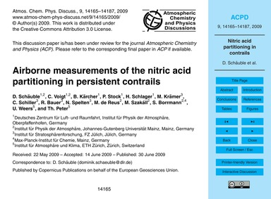 Airborne Measurements of the Nitric Acid... by Schäuble, D.