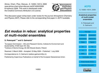 Est Modus in Rebus: Analytical Propertie... by Potempski, S.